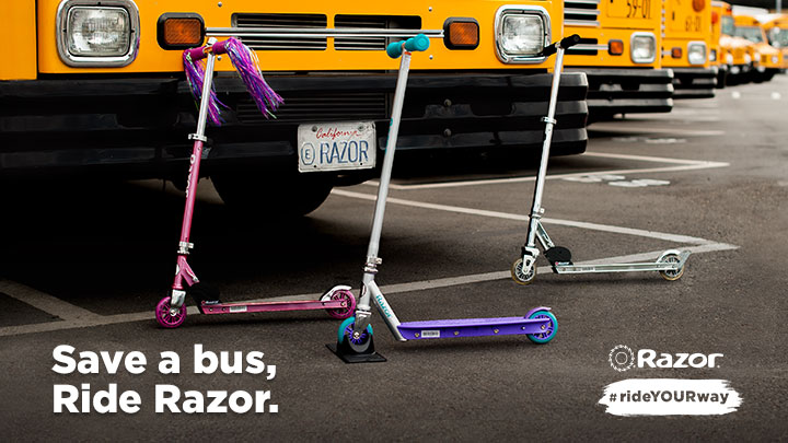 Save a Bus, Ride a Razor