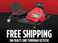 Limited Time Only:<br />Free Shipping on Crazy Cart