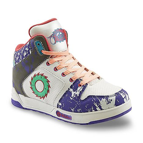 Razor Girls' White Light-Up High-Top